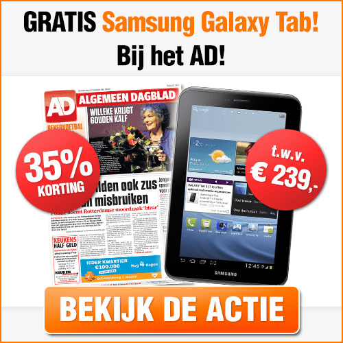 amsung Galaxy Tab kado bij AD