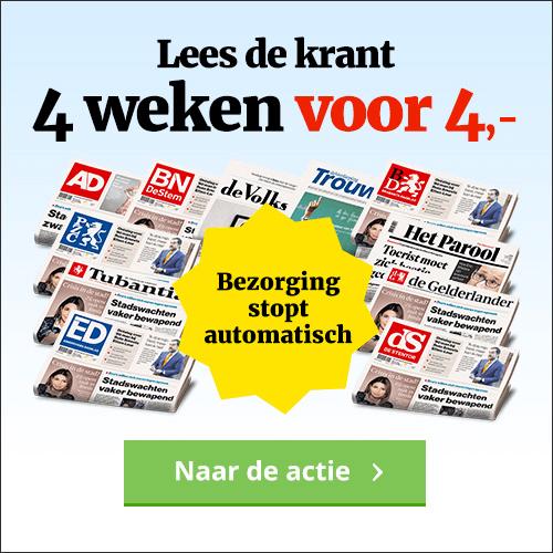 AD aanbieding de krant voor 4 euro