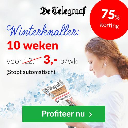 Telegraaf met superkorting - Winterknaller