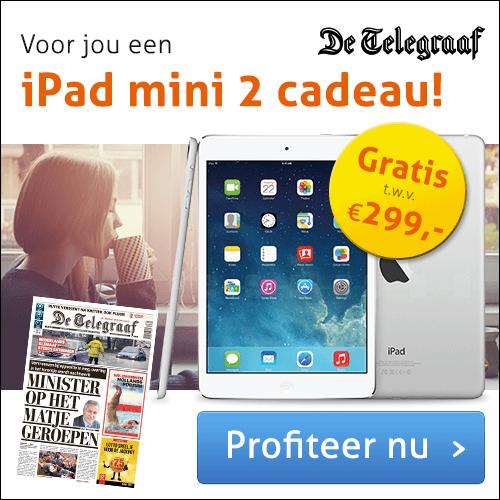 Telegraaf met iPad Mini 2 cadeau