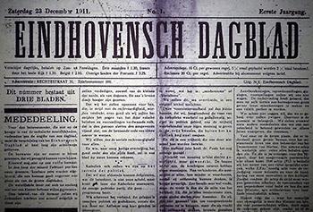 Eerste uitgave Eindhovens Dagblad uit 1911