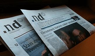 Nederlands Dagblad voorpagina krant