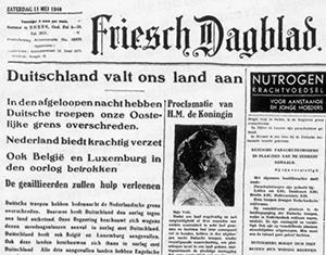 krant friesch dagblad in de Tweede Wereldoorlog