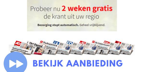 regionaal dagblad gratis actie
