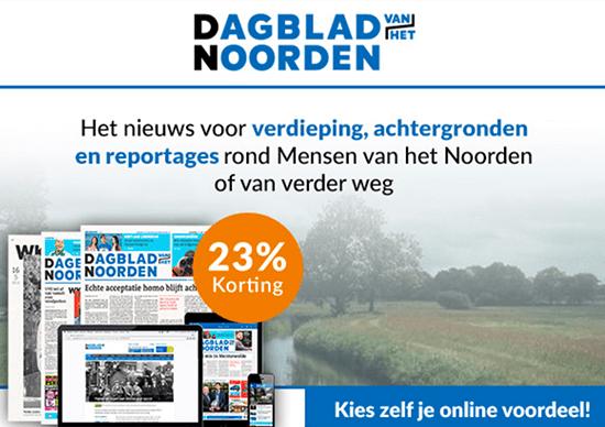 jaarabonnement Dagblad van het Noorden