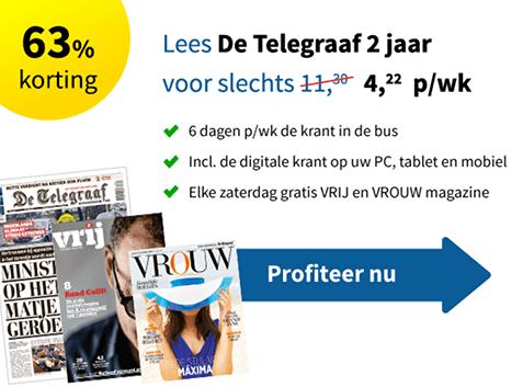 Beste deal: Twee jarig abonnement op de Telegraaf