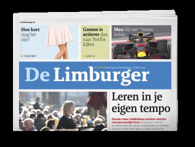voorpagina van dagblad de limburger