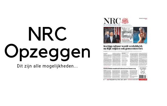 NRC abonnement annuleren. Zeg NRC Handelsblad op.