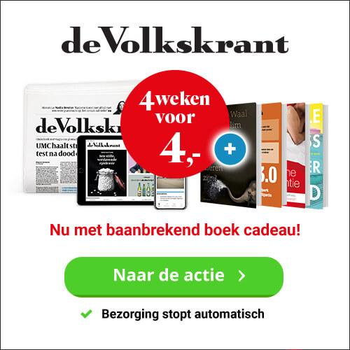 Vier weken Volkskrant met boek