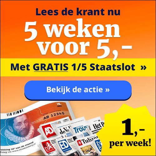 5 weken 5 euro staatslot