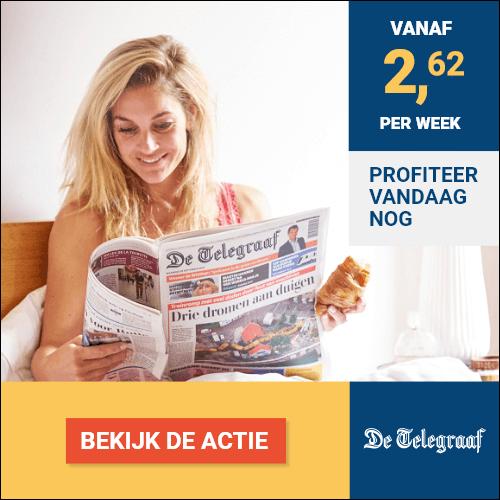 Topkorting bij zaterdag abonnement Telegraaf