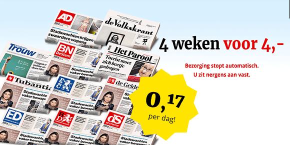 4 weken voor 4 euro krant